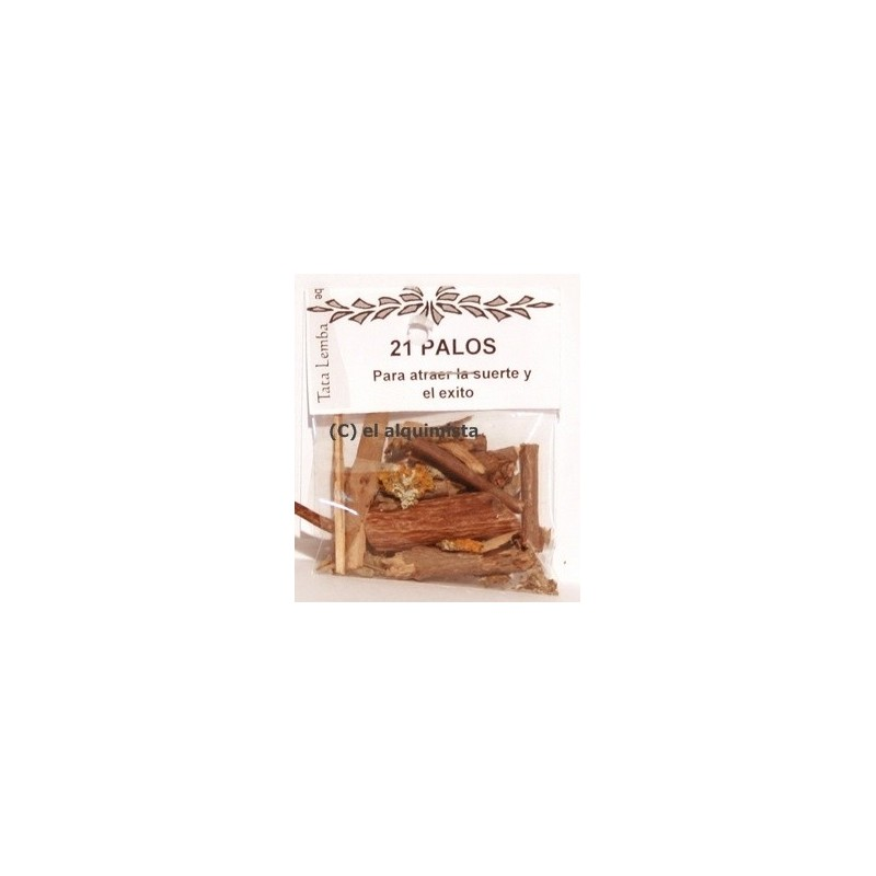 PALO 21 PALOS (polvo y astillas ) NO son los palos enteros.
