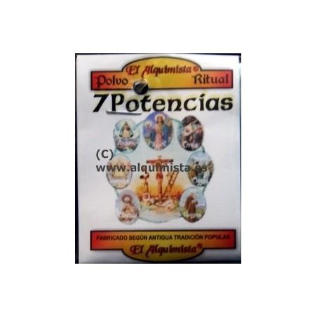 Polvo de las 7 potencias o 7 poderes , para rituales esotéricos y ofrendas religiosas Propiedad del polvo ritual 7 poderes o