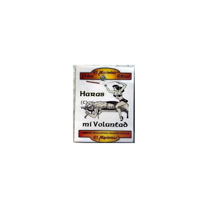 POLVO HARAS MI VOLUNTAD