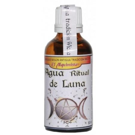 AGUA DE LUNA (producto wicca Certificado) con piedra Luna