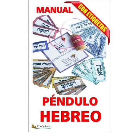 kit de pendulo hebreo con manual etiquetas y cursoonline