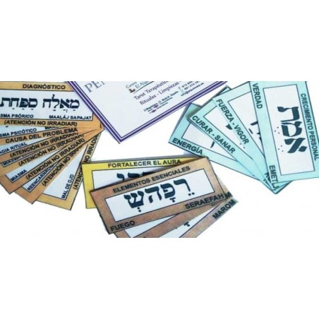 Etiquetas originales y testadas del péndulo hebreo de sanación