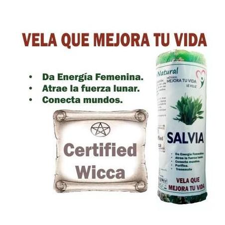 VELÓN DE SALVIA Energiza a la mujer, conecta con la luna planta Wicca