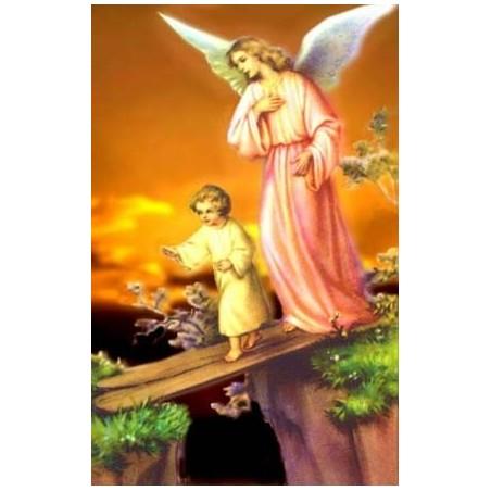 ESTAMPAS tamaño carnet plastificada Angel de la guarda