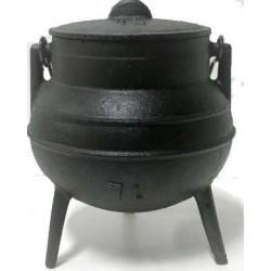 CALDERO de hierro 1 Lts. 10 cm de boca, 15,5 cm de alto