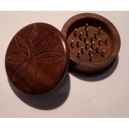 Grinder madera ( picadora hecha a mano) tallada