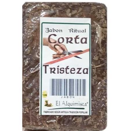 JABON CORTA TRISTEZA con hierbas y aceites hecho a mano