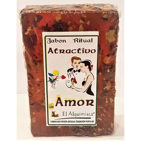 JABON HECHIZO DE AMOR echo a mano con Hierbas 100g.