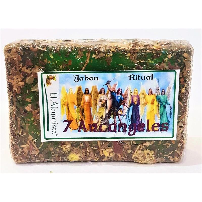 JABON 7 ARCANGELES con hierbas y aceites hecho a mano