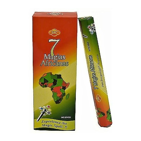 CAJA INCIENSO EN VARITA 7 MAGIAS AFRICANAS x 6 paquetes