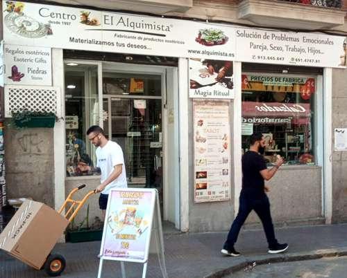 Tienda el Alquimista, calle Magdalena, 12 Madrid