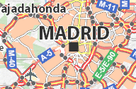 Mapa de Madrid hasta M40